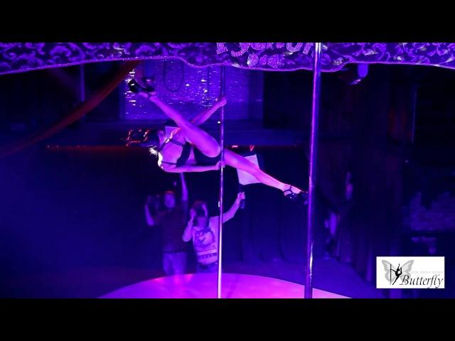 Отчетное выступление pole dance school Butterfly Малифесента