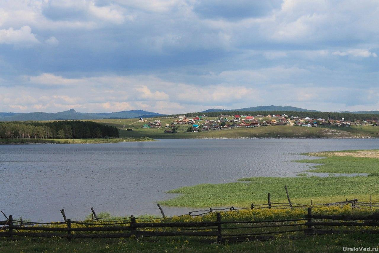 Тирлянский пруд и поселок Тирлянский