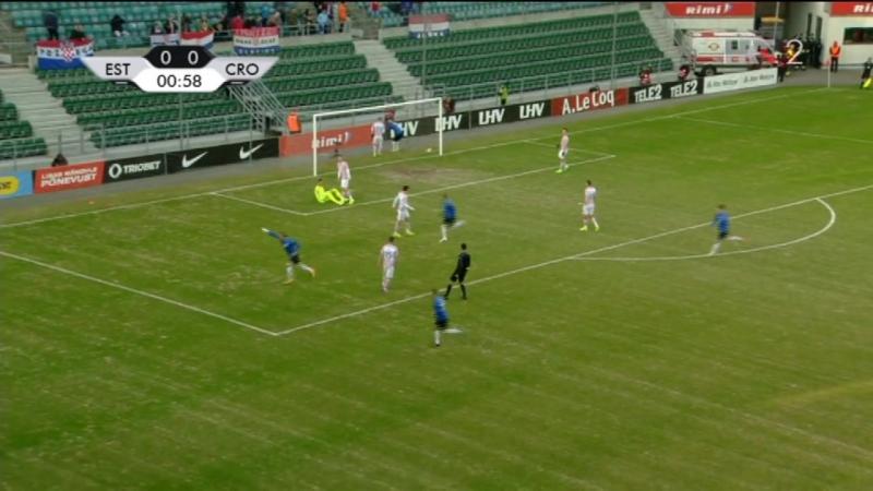 Estonija - Hrvatska 3-0, S. Luts (1-0, 1), 28.03.2017. HD