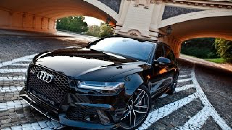 2017 Audi RS6 Performance blacked out 605hp - exterior, interior, acceleration etc