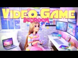 DIY - How to Make Doll Video Game Bedroom - Dollhouse Crafts - 4K