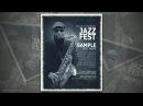Photoshop Tutorial - Jazz Fest Poster