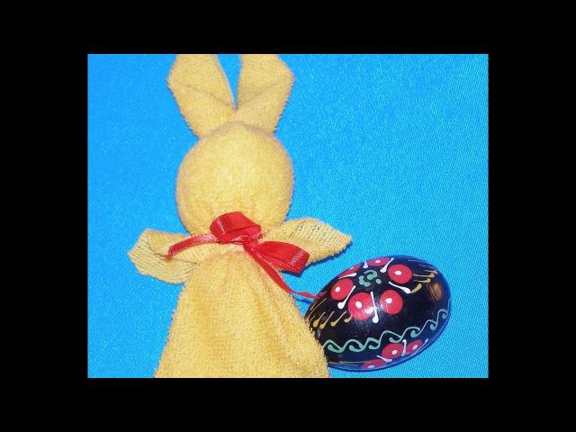 Пасхальный кролик в технике мотанки. МК