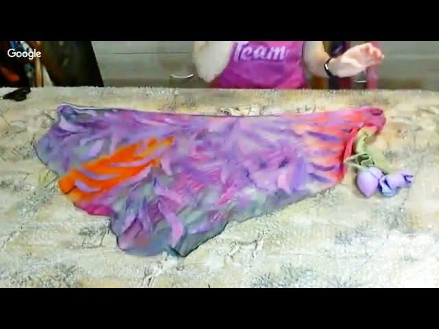 Валяние ✿ Бактус - нунофелтинг с валяными цветами ✿ МК Ирины Пановой