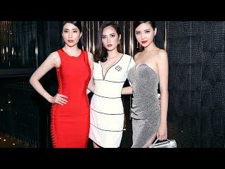 Ngọc Duyên diện váy sexy đọ dáng chuẩn cùng Diệu Linh và Minh Thư