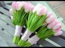 Как сделать необычный букет из тюльпанов и хризантем