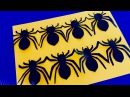 DIY Halloween Гирлянда Паук Интересные поделки из бумаги Декор комнаты на Хэллоуин