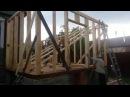 Каркасная пристройка к деревянному дому День 9