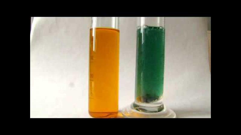 Восстановление бихромата калия атомарным водородом.