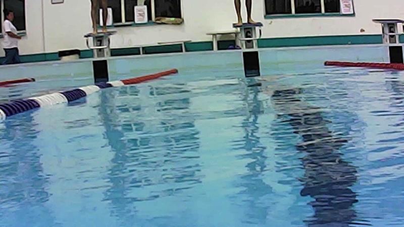 Рахин старт под водой.