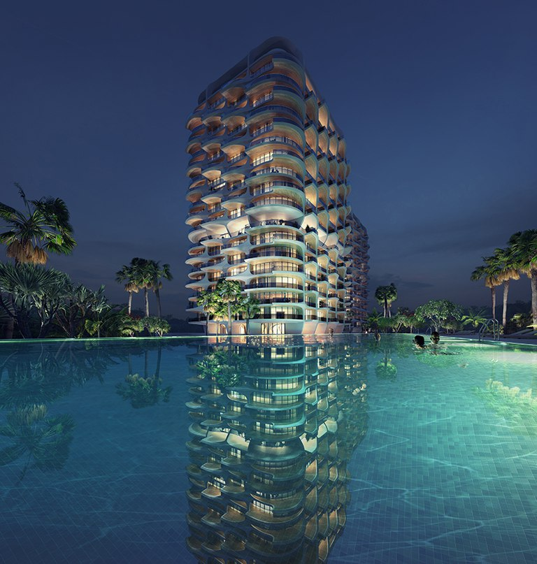 zaha hadid architects reinterprets mayan architecture with luxury residences in mexico
