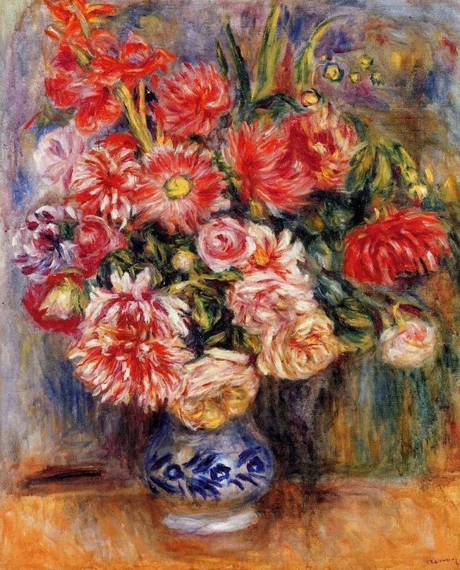 Пьер Огюст Ренуар, цветы.