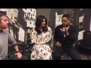WATCH LIVE: Backstage with Priyanka Chopra and Blair Underwood talking season two of Quantico!