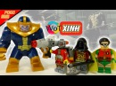 Китайские минифигурки Лего Танос, Дедшот, Робин, Костюм Робина