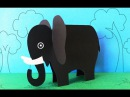 Fun Crafts for Kids : How to Make a Paper Elephant Crafts   Preschool Activities