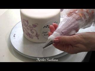 Формирование и оформление 2-х этажного торта.Часть 3