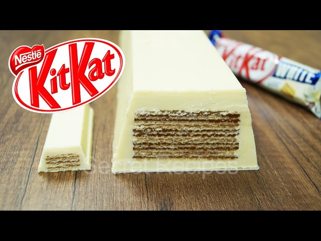 ГИГАНТСКИЙ БЕЛЫЙ КИТ КАТ. КАК СДЕЛАТЬ БЕЛЫЙ БАТОНЧИК KITKAT | GIANT WHITE KITKAT BAR NESTLE