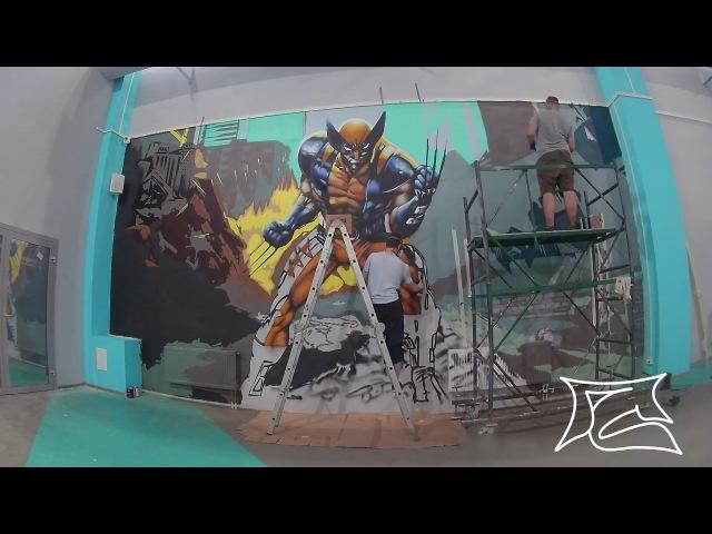 Gladyshev Nikita - Spraying Logan,Timelapse X-men