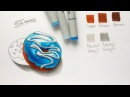 Видеоурок маркерами Sketchmarker - video tutorial by sketchmarker markers - Donuts