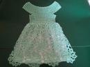 Ажурное платье цвета мяты на 2-3 годика крючком / Knitting dress for girls