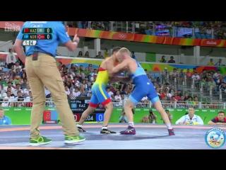 РИО-2016 греко-римская борьба 59 кг утешиловка Алмат Кебиспаев (Казахстан) - Стиг-Андре Берге (Норвегия)