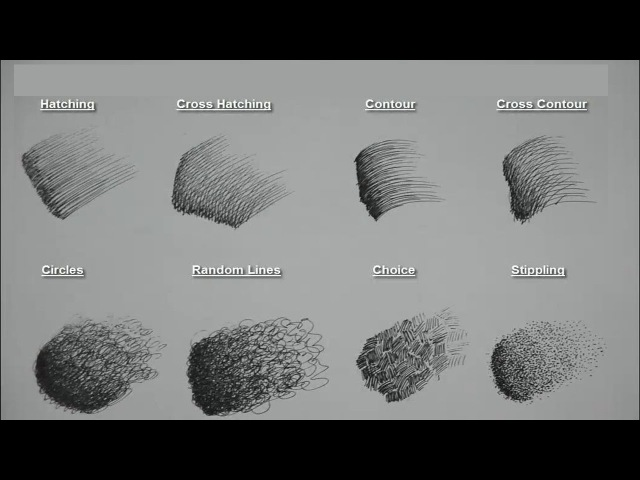 8 Basic Pen Pencil strokes Beginners Introduction
