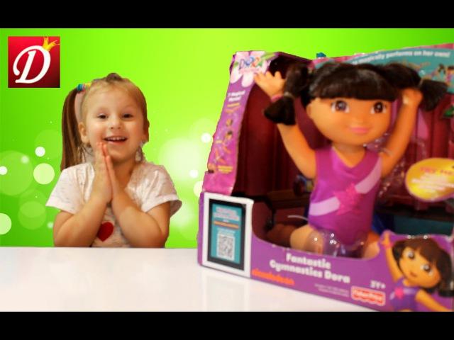 Даша Путешественница гимнастка распаковка и обзор куклы Dora the Explorer doll gymnast