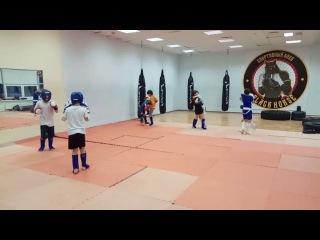 Спарринги. Дети 7-10 лет. Тайский бокс. Тренер: Ратманский С.И. Спортивный клуб