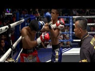 หลับคาแข้ง | Sleeping Knee | THE CHAMPION มวยไทยตัดเชือก | 08/04/60 | ช่อง8