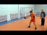 Обучение волейболу взрослых. Для начинающих. Подача в волейболе часть 1