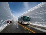 Как пробивают дорогу в снегу в Норвегии