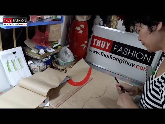 Dậy cắt may: Thiết kế váy suông thân sau tại Thời Trang Thủy - Design shift dress