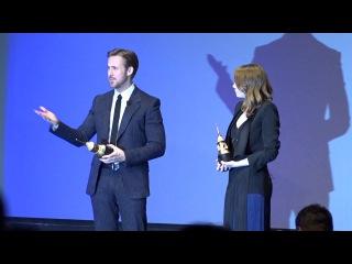 SBIFF 2017 - Damien Chazelle Presents Award, Ryan Gosling & Emma Stone Speeches