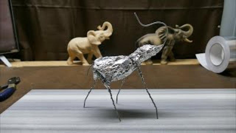 Sculpting an Elephant, part 2: Reinforcing Armature Foil.