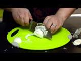Как нарезать лук полукольцами? Как нарезать лук кольцами? Нарезка лука полуколь ...