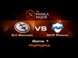 The Manila Major - EG vs MVP.P (Game 1 highlights)