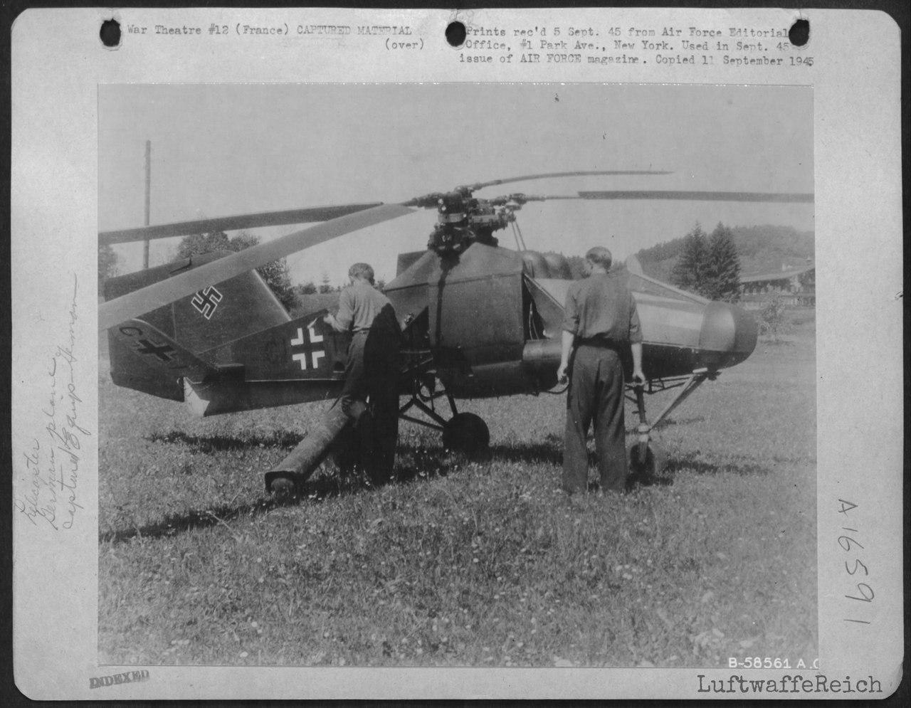 Flettner Fl 282 Kolibri, Западная Европа '40 гг.