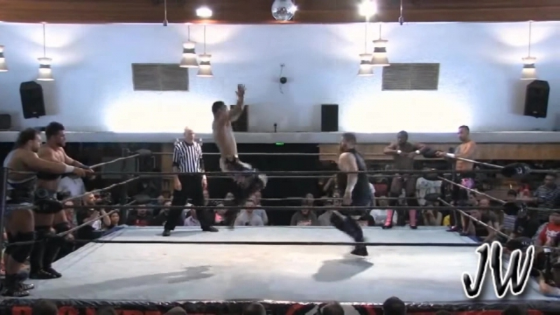 Kevin Steen Brian Cage Michael Elgin vs Ricochet Rich Shawn AR Fox PWG Highlights