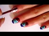 Дизайн ногтей _ Скотч-лента для ногтей _ NailArt _ полоски на ногтях