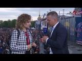 Евгения Тихонова на чемпионском параде СКА