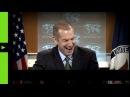Представитель Госдепа не смог сдержать смех после слов о «демократической прозрачности»