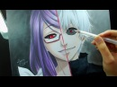 Speed Drawing Kamishiro Rize Kaneki Ken Tokyo Ghoul