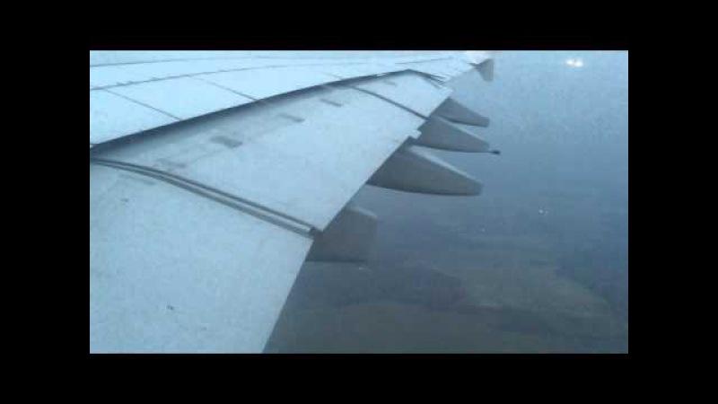 Посадка Airbus A380-800 Emirates в Домодедово