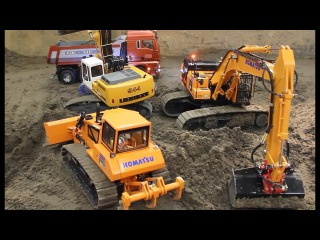 Cartoons for children The Excavator Construction Trucks Video for Kids