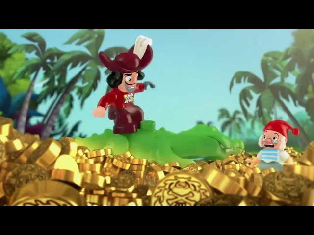 The Never Land Pirate Pieces of Eight! - LEGO DUPLO - Jake's Buccaneer Blast