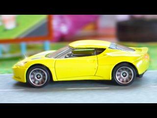 Eğitici Çizgi Film - Sarı Yarış Arabaları ve Polis arabası - Arabalar çizgi filmi - Akıllı arabalar