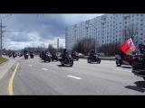 Открытие мотосезона, Минск. Колонна мотоциклистов. 23.04.2017