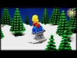 Lego Симпсоны и Бэтман на новый год. Как Гомер пытался украсть пончики у Санта Клауса.