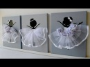 DIY How to make Ballerina Canvas Wall Art