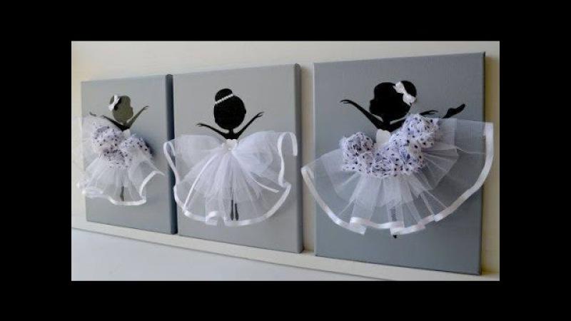 DIY How to make Ballerina Canvas Wall Art